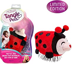 Tangle Pets LIZZY THE LADYBUG - The Detangling Brush in a Plush, Great for Any Hair Type, Removable Plush, As Seen on Shark Tank