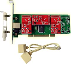 FXS Card FXO Card with 3 FXO+1 FXS Ports,PCI,Low Profile,for Asterisk Freepbx Issabel Dahdi, IP PBX VoIP Phone Appliance