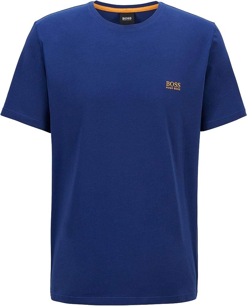 Hugo boss mix&match t-shirt, maglietta per uomo a maniche corte, 95% cotone, 5% elastan, blu1 50381904B