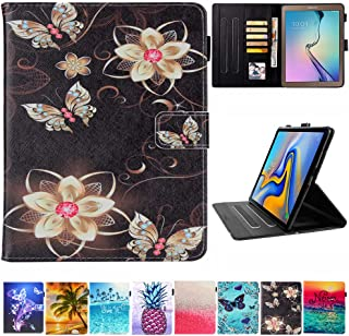 Galaxy Tab A 10.1 Case, T580 Case, JZCreater PU Leather Folio Stand Wallet Case, Auto Sleep/Wake Smart Cover for Samsung Galaxy Tab A 10.1