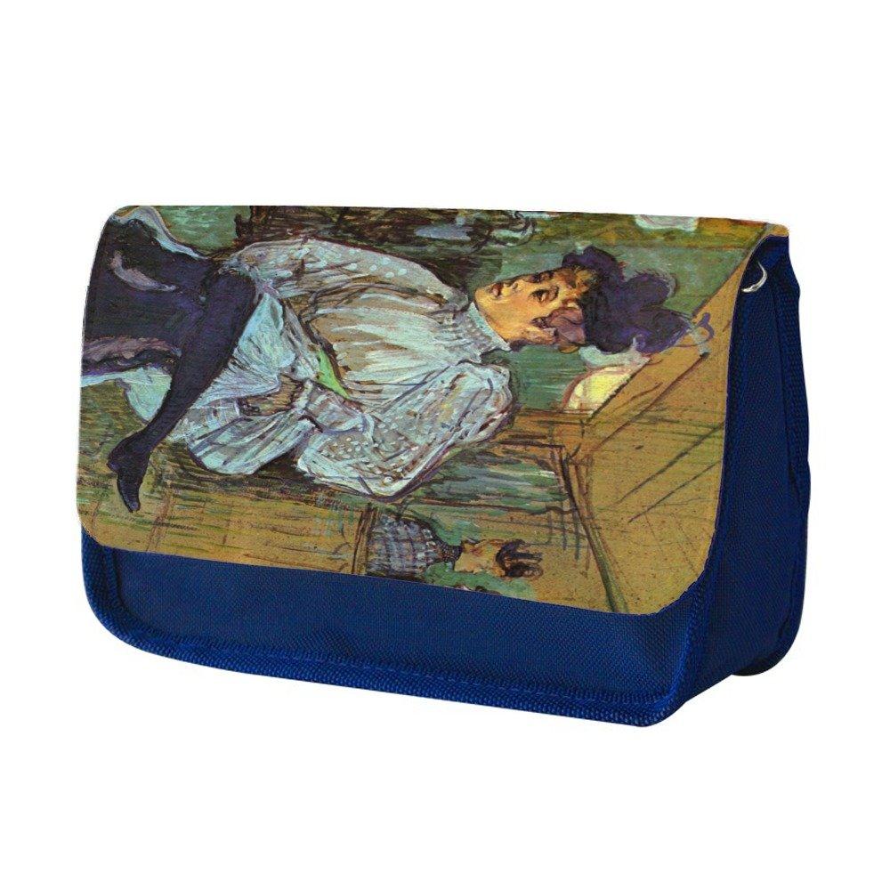 Toulouse Lautrec Jane Avril Dancing 2, Azul Escuela Niños Sublimación Alta calidad Poliéster Estuche de lápices con Diseño Colorido. 21x13 cm.: Amazon.es: Oficina y papelería