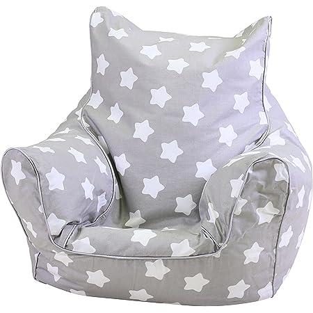 KNORRTOYS.COM Knorrtoys 68211 Pouf pour Enfant Motif étoiles Blanc