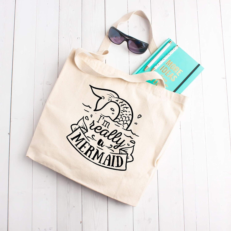 I'm really a Mermaid Bag Beach Cheap super List price special price Tote