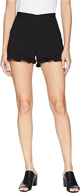 Weekend Warrior Textured Rayon Ruffle Shorts