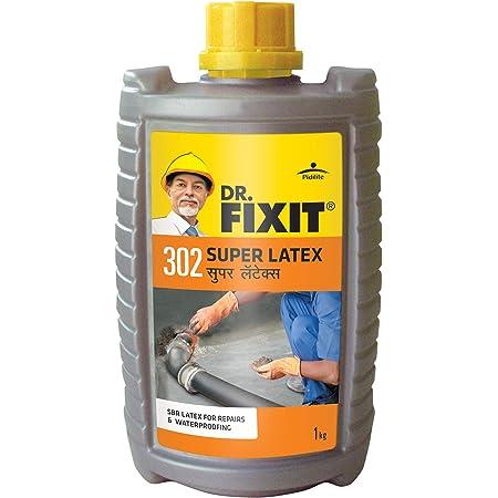Dr.Fixit 302 SBR Latex Super Latex SBR Latex For Waterproofing & Repairs - 1Kg, (Grey) (1Pc)