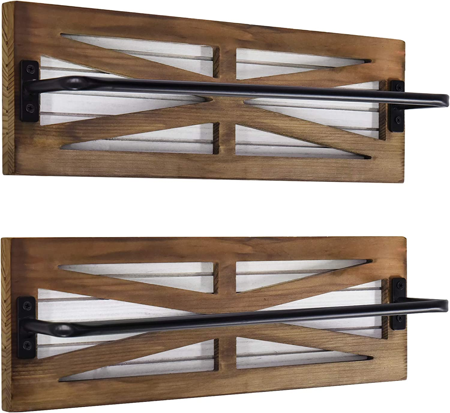 Farmhouse Challenge the lowest price of Japan ☆ Towel Rack for Bathroom Bat Bar Wall Mounted Ranking TOP2