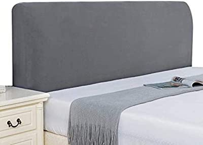 Stretch Headboards Cover Slipcover Backrest Cover AllInclusive Headboards for Beds Cover Protective Wood Leather Bed Dust Cover Curved,J140~160CM