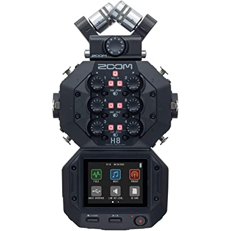 Zoom H8 12-Track Portable Recorder, Stereo Microphones, 6 Inputs, Touchscreen Interface, USB Audio Interface, Battery Powered, for Stereo/Multitrack Audio for Video, Podcasting, and Music