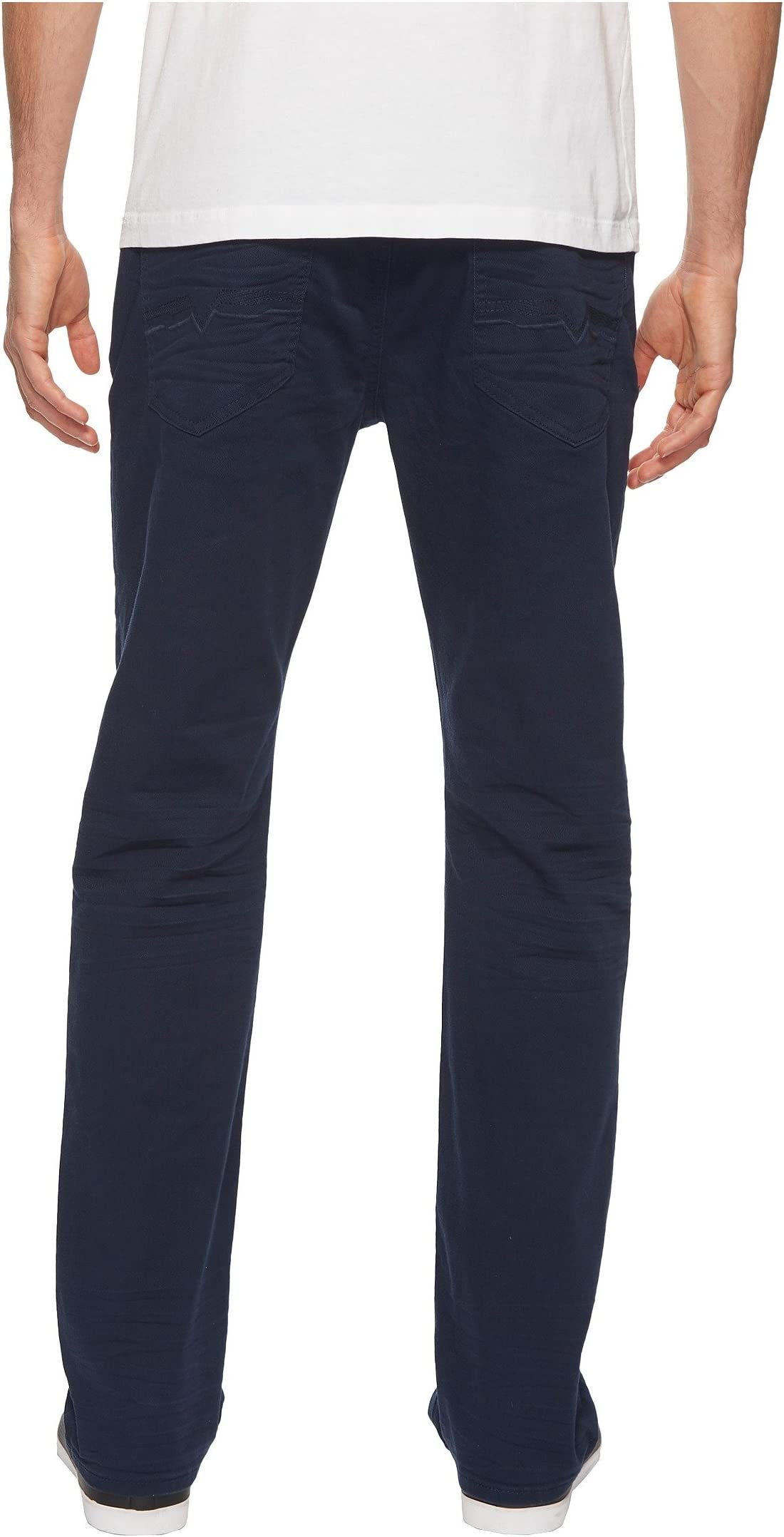 Buffalo David Bitton Six-X Straight Fit Jeans Torpedo Fabric in Deep Navy kr4bY