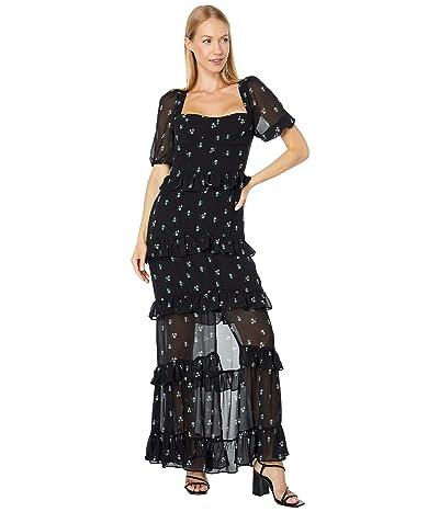 WAYF Cici Bustier Tiered Maxi Dress