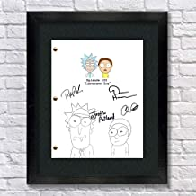 Rick and Morty TV Autographed Signed Reprint 8.5x11 Script 13x15 Framed Dan Harmon, Justin Roiland, Chris Parnell, Rob Paulsen Rick Sanchez