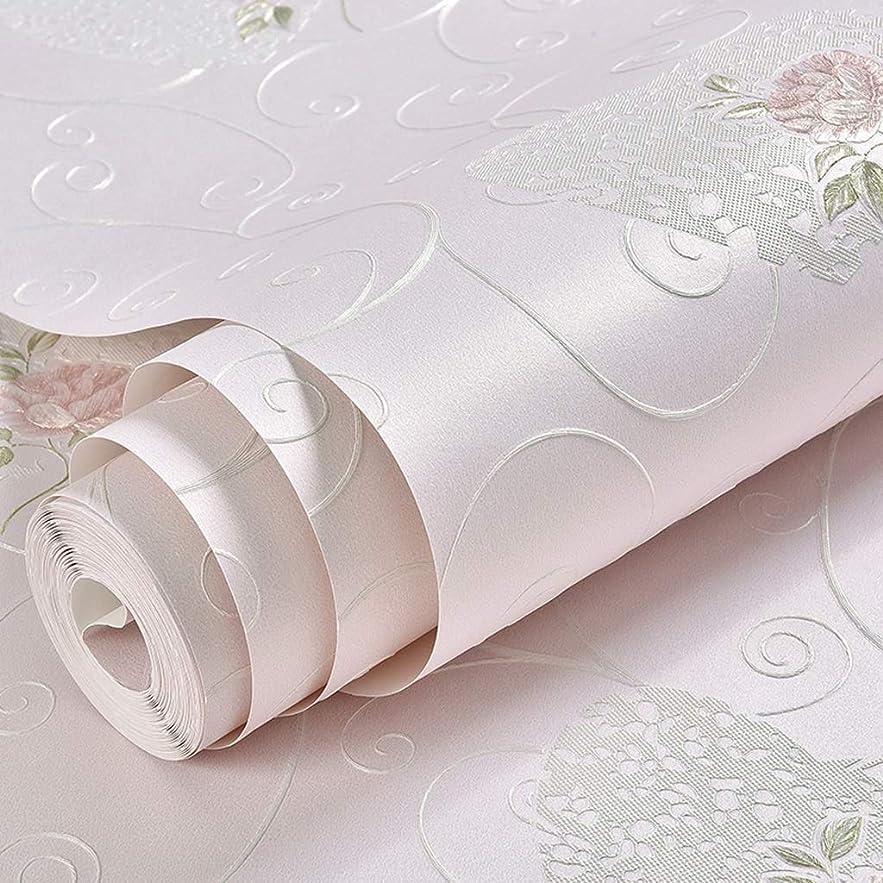代わりにを立てる露骨なマリナーZWD- 素朴な壁紙、寝室の研究装飾的な壁紙のソファーの背景の淡い色シリーズ三次元壁紙の装飾 家の装飾 (Color : Light pink)
