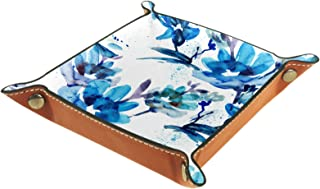Vockgeng Fleur Bleue Boîte de Rangement Panier Organisateur de Bureau Plateau décoratif approprié pour Bureau à Domicile t...