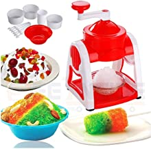 NIMIT SALES Ice Gola Slush Maker Ice Snow Maker Machine | Ice Crusher | Indoor Outdoor Manual Home with Reusable 3 Bowl,1 ...