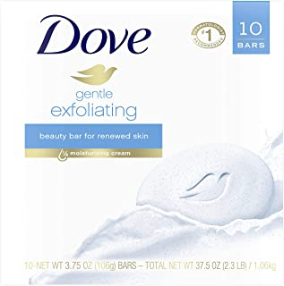 Dove Beauty Bar, Gentle Exfoliating, 4 Ounce, 10 Count (Pack of 1)