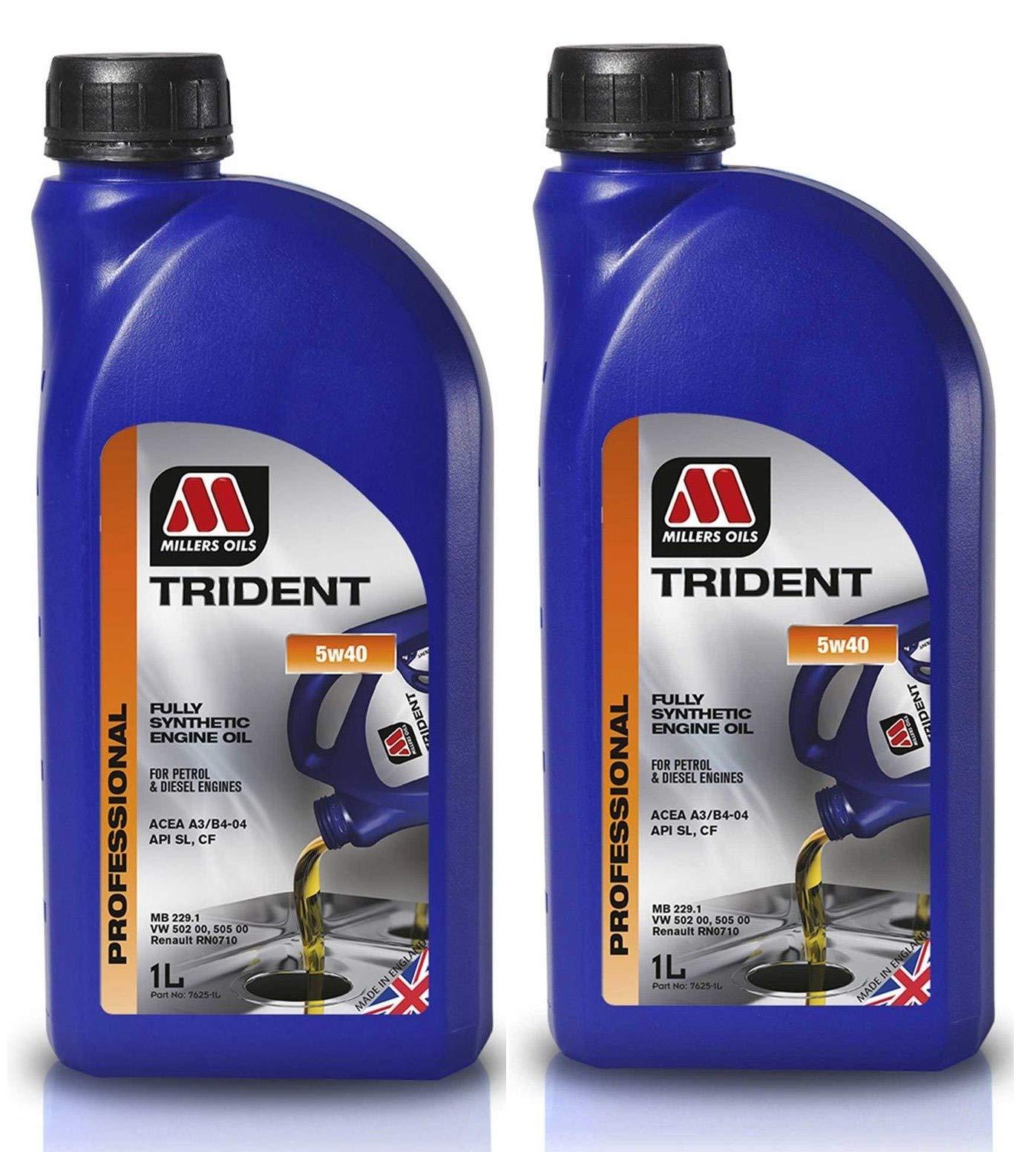 Millers Oils Trident 5W40 - Aceite de Motor (2 L): Amazon.es: Coche y moto