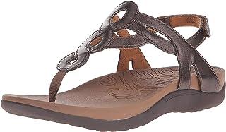 Rockport Cobb Hill Women's Ramona-CH Flat Sandal, Bronze, 9.5 W US