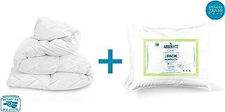 STEFANO ZANNI Cubre colchón algodón Extra Confort + 2 Almohadas de Regalo (MATRIMONIAL)