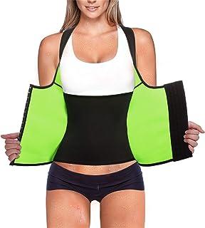 3c14be7d55 Rolewpy Women Waist Trainer Corset Weight Loss Slimming Neoprene Sauna  Sweat Vest Workout Body Shaper Tank