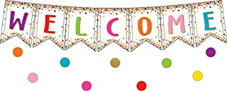 Confetti Pennants Welcome Bulletin Board