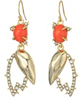 Alexis Bittar - Crystal Encrusted Abstract Tulip Drop Wire Earrings