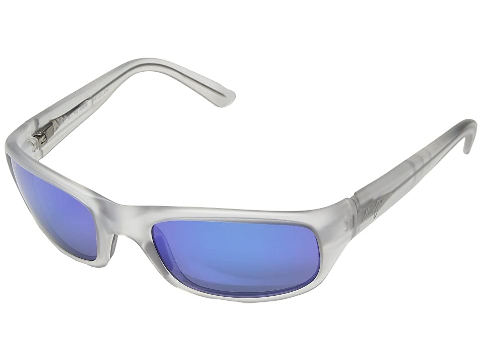 Maui Jim Stingray (Crystal Matte/Blue Hawaii) Sport Sunglasses