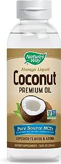 Nature's Way Premium Coconut Oil Pure Source MCTs Superior Flavor & Aroma, 10 Fl Oz.
