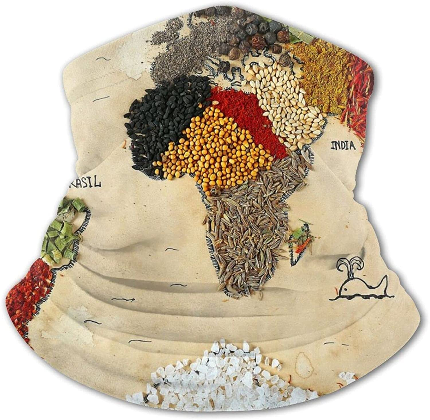 Map of Safety Excellent and trust The World Made from Cuisine Kinds Sty Different Spices