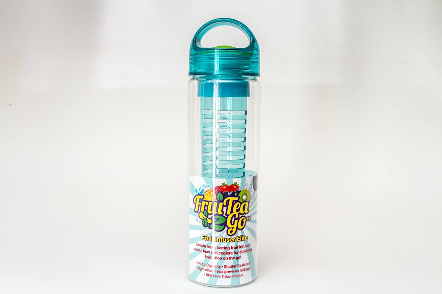 Teal Fruit Infuser Water Bottle  Fruitea2go Elite  24oz  Make Your Own Fruit Infused Flavored Water by FruiTea2Go