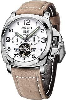 PIXNOR Men's Megir Calendar Skeleton Analog Quartz Wrist Watch