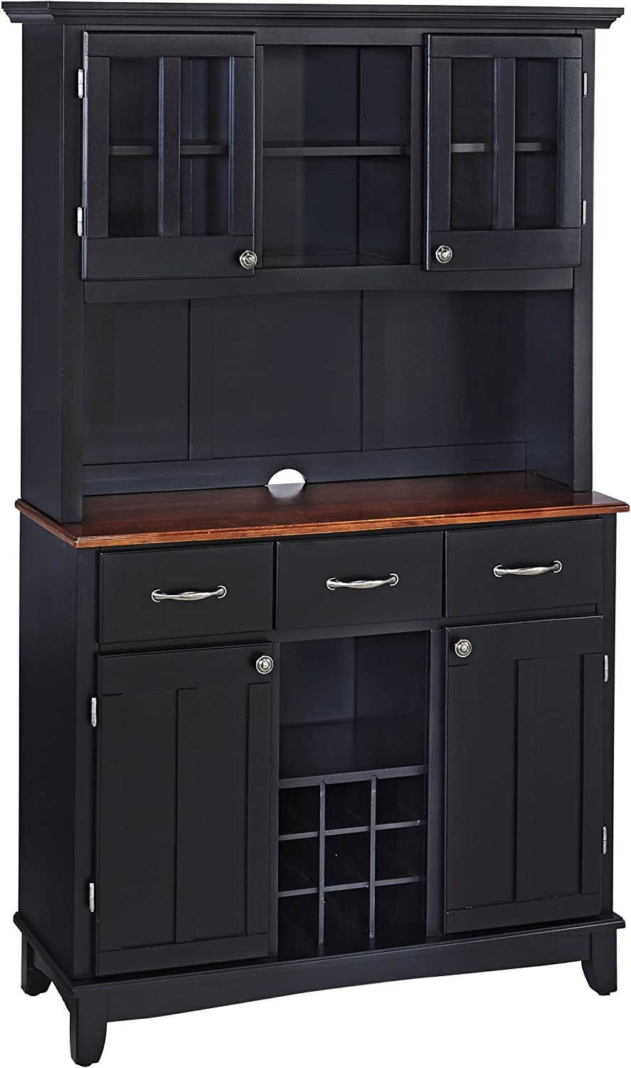 San Francisco Mall Homestyles Max 80% OFF Buffets Medium Cherry with Top by Hutch Wood Hom