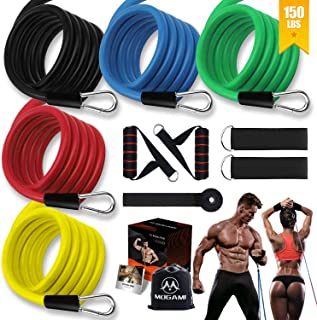 YUNYUE Resistance Bands Set,Workout Bands for Men & Women,Stackable Up to 150 lbs,Home Gym Equipment Dumbbell Set Partner,...