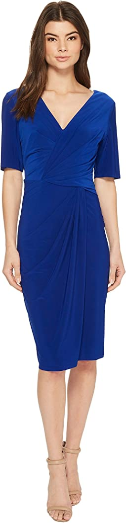 Adrianna Papell - Twisted Draped Jersey Sheath
