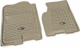 Rugged Ridge All-Terrain Tan Front Row Floor Liner For Select Cadillac Escalade, Chevrolet Avalanche, Silverado, Suburban, Tahoe, GMC Sierra and Yukon Models