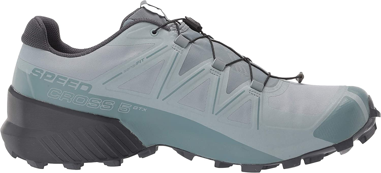 Salomon Mens Speedcross 5 GTX Trail Running Shoe Slate//Trooper//Ebony