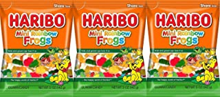 Haribo Gummies-Mini Rainbow Frogs-5 Oz-3 Count