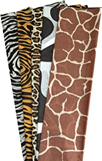 Hygloss Products Animal Print Tissue Paper - Non-Bleeding Gift Paper Assorted Animal Designs - 40 Sheets