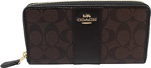 Coach Women's Patent Crossgrain Leather Accordion Zip Wallet