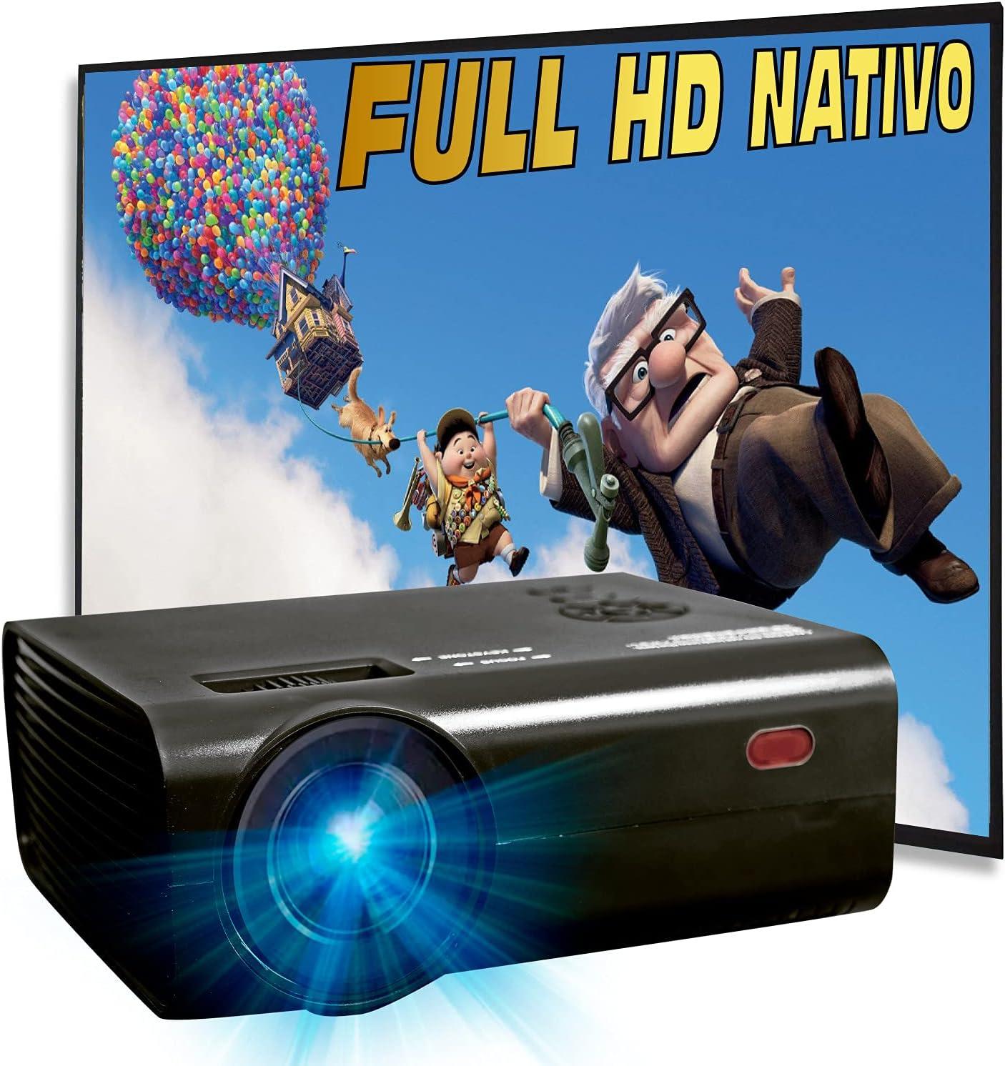 Proyector 1080p Nativo, Silencioso, 6.000 Lúmenes,Contraste 10.000:1,Fullhd Nativo, Cine en Casa 100
