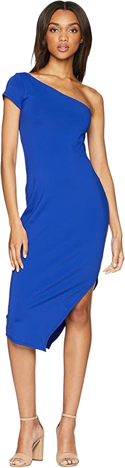 One Shoulder Side Slit Dress