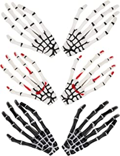 6 Pieces Halloween Skeleton Hands Bone Hair Clips Claws Skull Hand Hair Clip Hairpin Zombie Punk Rock Horror Hair Clip for Women Girls Hair Accessories