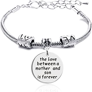 lauhonmin Mother Daughter Mother Son Grandmother Grandson Granddaughter Charm Bracelets Mom Gifts Mother's Day