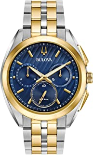 Bulova Men's 45mm CURV Collection Two-Tone Chronograph Watch