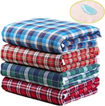 RANRANHOME Waterproof-Resistant Leak Proof Mattress Pad Protector, 90X140cm, Reusable Incontinence Pad Cover, Cotton Washable for Incontinence Toddlers, Elderly, Hospital