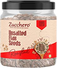 Zucchero Roasted Flaxseed, Unsalted, 200g (Rich in Omega-3)