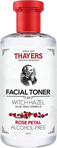 THAYERS Alcohol-Free Rose Petal Witch Hazel Facial Toner with Aloe Vera Formula, 355ml, 1 count
