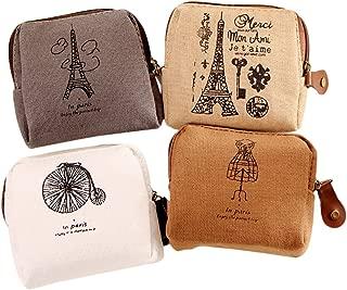 Doitsa Juego de 4pcs pequeño - bolso de tela para mujer niña educativo y viajes multifunción bolsas COSMETIQUES/bolsa de aseo/neceseres de maquillaje/Monedero