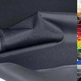 TOLKO wasserfester beschichteter Nylon Stoff | fester Segeltuch Planenstoff als Nylonplane für Aussenbereich | Reißfest und Langlebig | Meterware 150cm breit schwerer Outdoorstoff Anthrazit