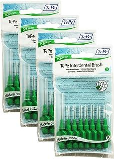 TePe - Cepillos interdentales 0.8mm en verde - 4 paquetes de 8 (32 cepillos)