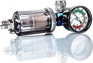 BenBow Luftdruckregler mit Manometer und Öl Wasser Abscheider Filter für Lackierpistolen Pneumatische Spritzpistole Messgerät Druckminderer Separator Tool